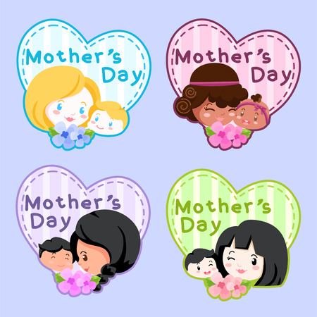 Mother's Day Illustration Badge