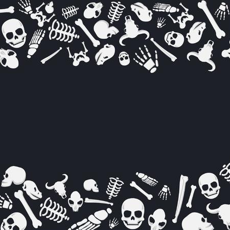 Skelleton Bonse Background Decorative Frame Illustration