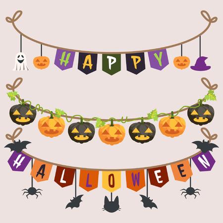 Halloween Garland Collection Illustration