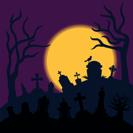 Cemetery Horror Background