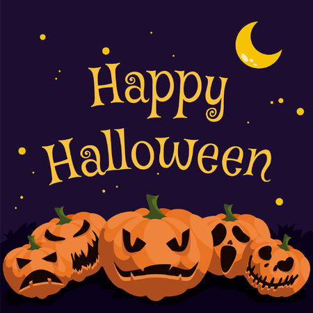 Jack-0-Lantern Halloween Greetings