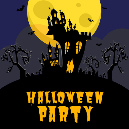 Spooky Haunted Castle Graphic