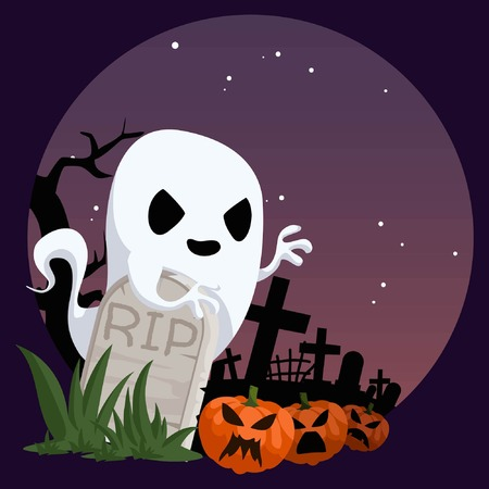 Ghost in A Cemetery