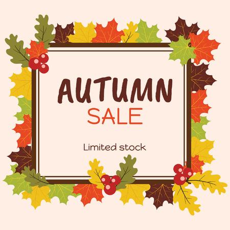 Autumn Sale Background Frame