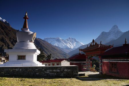 The monastery at Tengboche Stock Photo - 8260831