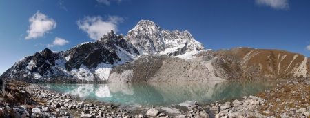 Himalayas - Taboche Tsho lake Stock Photo - 16877550