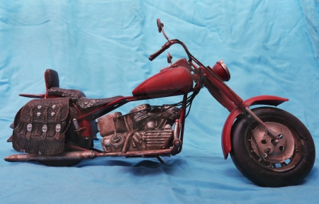 Metal model of historical motorcycles photo