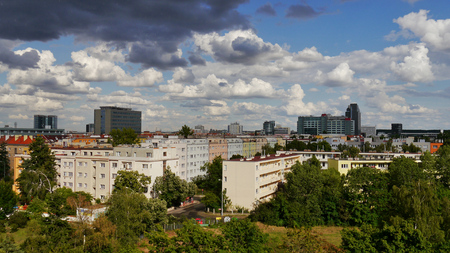 Prague before the storm  District Praha 4, Czech Republic, 30th July 2014