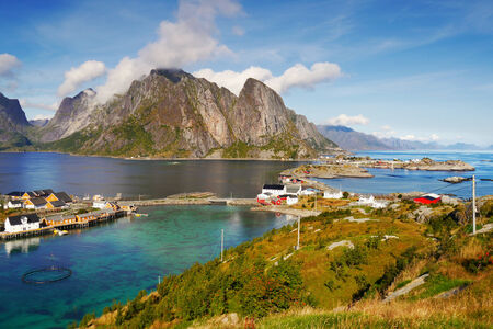 Scenery in Lofoten, Norway photo