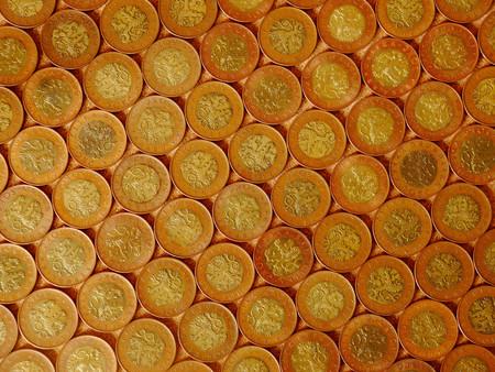czech republic coin: Czech coins, fifty crowns. The largest Czech coins. Stock Photo
