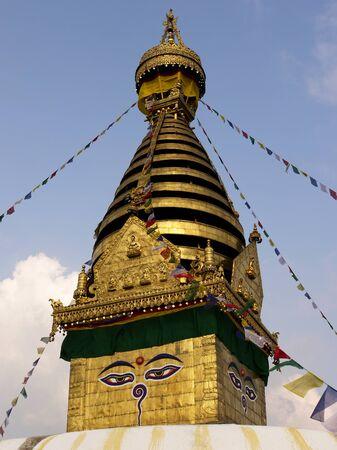 buddhist stupa: Buddhist stupa Swayambu in Kathmandu in Nepal