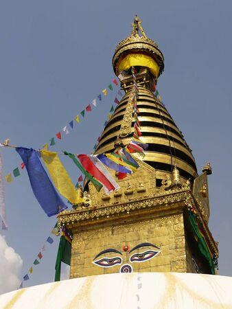 Buddhist stupa Swayambu in Kathmandu in Nepal