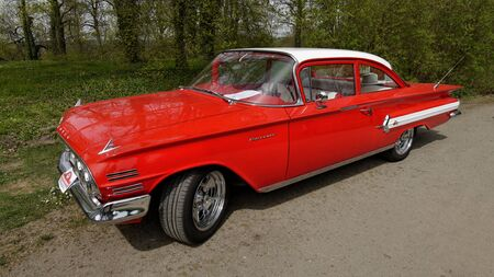 Chevrolet Biscayne Competition of American vintage cars at the castle Sychrov Czech Republic April 25 2015 Editorial