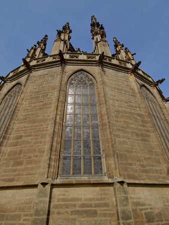 cowl: Cathedral of St. Barbara Kutna Hora Stock Photo