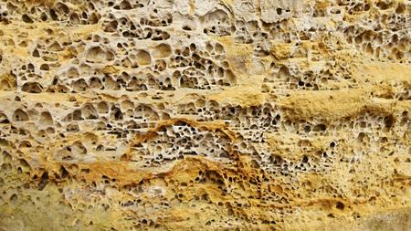 sandstone: Structure of sandstone cliffs-detail Stock Photo