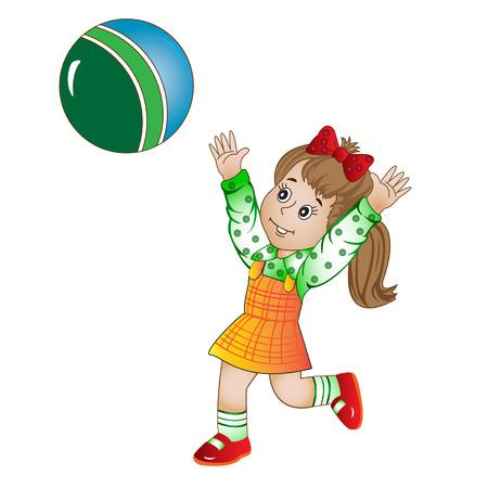 sundress: girl in a sundress plays the ball