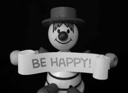 An optimistic monochrome clown  photo