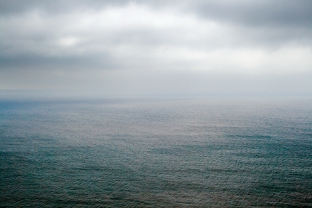 motionless: Picture of beautiful surface with overcast sky near cape Pen Hir  Bretagne  Stock Photo