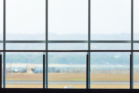 balinese: background of terminal window in Balinese airport Stock Photo