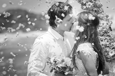 Altes Foto des Hochzeitspaar Standard-Bild - 38316691