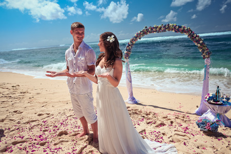traditional culture: Wedding - traditional culture in Bali Stock Photo