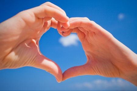 love concept of hands heart