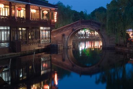 zhouzhuang: Image of beautiful Chinese Venice � Zhouzhuang at the night. China