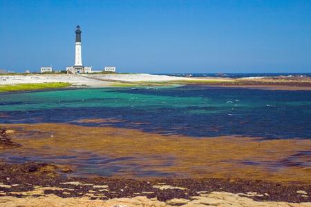 bretagne: Picture of the grand lighthouse of island Sein, Bretagne. Stock Photo