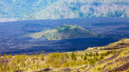 mayon: Batur Volcano in Indonesia, Bali, barren ground