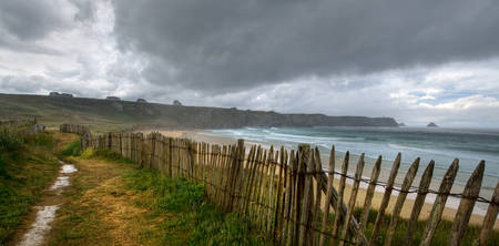 bretagne: It is raining in the end of land. Storm in Finister, Bretagne, France.
