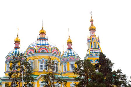 Cathedral church in Almaty in 28 Panfilov Park