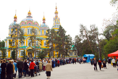 28: Cathedral church in Almaty in 28 Panfilov Park