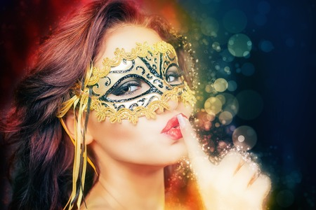 sex shop: Sexy woman with carnival mask. Secret. Fashion. Venetian carnival. Sex shop. Hot babe. Party. Night background