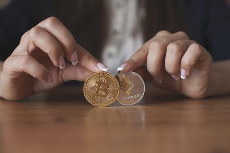 Bitcoin vs Ethereum chart and exchange trading platform