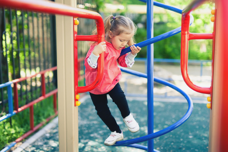 little girl at playground.