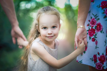Give more time for your kids. Family values Stock Photo