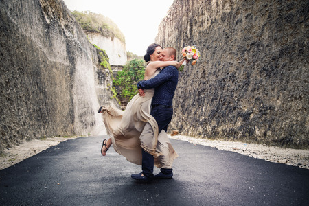 Happy International Womens Day, 8 March. Happy successful couple Zdjęcie Seryjne