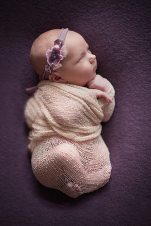 Newborn baby at background, Your care and love most important for little baby