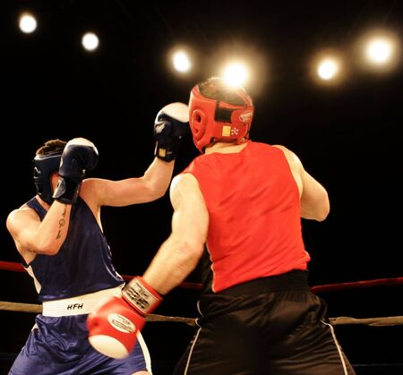 thump: Boxing hard Stock Photo