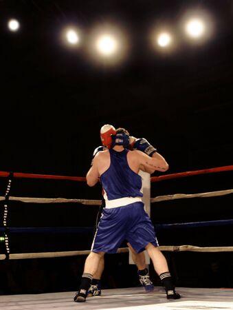 whack: boxers in the corner Stock Photo