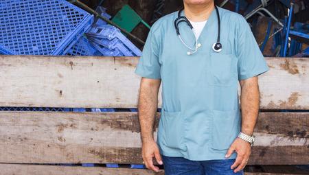 Foreigner doctor fighting ebola en africa