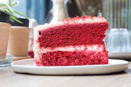 nicked: Concept of cut a piece of cake Red Velvet