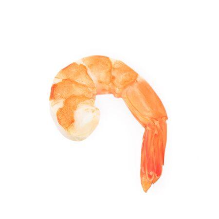 Boiled shrimp isolated on white background.