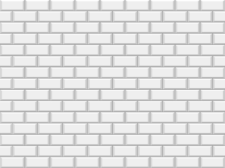 Abstract White Structural Brick Wall. Solid Surface. Vector Illustration