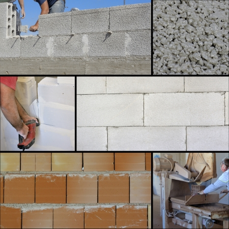 Collage of Construction site works photo