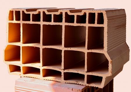 Construction site - block hollow brick for lightening Standard-Bild