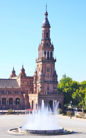 Fountain, Plaza de Espana, Sevilla Spain photo