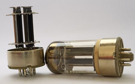 Vacuum Valves 6080. With and without the glass envelope photo