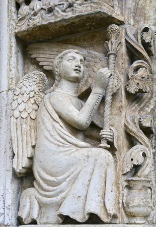 impish: protome cathedral Altamura  Apulia  ITALY - decorative element in an arch stone ornament