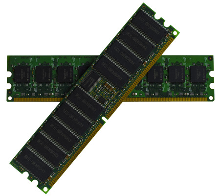ratings: Some modules DDR RAM memory computer on white background. Were not removed the ratings of some chips
